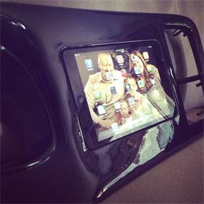 Mini-M kit glassed into a chevy dash bezel